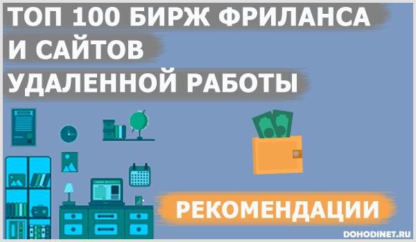 ТОП 100 бирж фриланса и сайтов удаленной работы