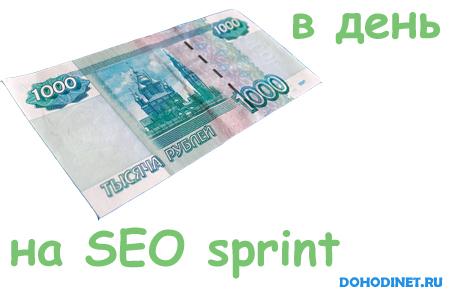 1000 рублей в день на seosprint