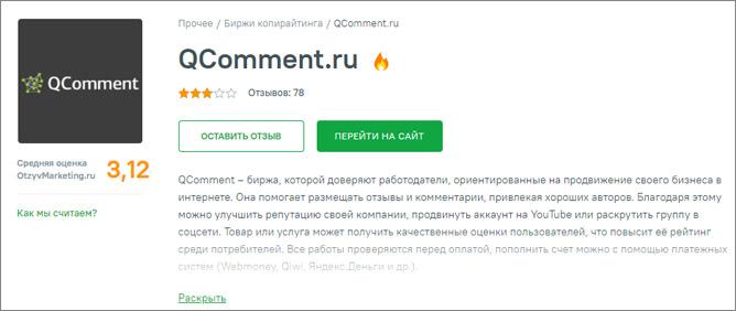 Отклики о сайте на otzyvmarketing.ru