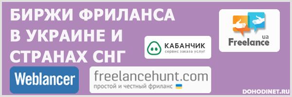 Биржи фриланса в Украине и странах СНГ
