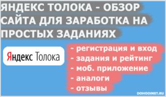 Яндекс Толока - обзор сайта для заработка на простых заданиях