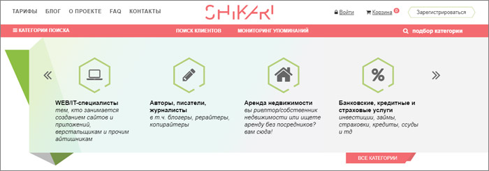 Shikari - удаленная работа для каждого