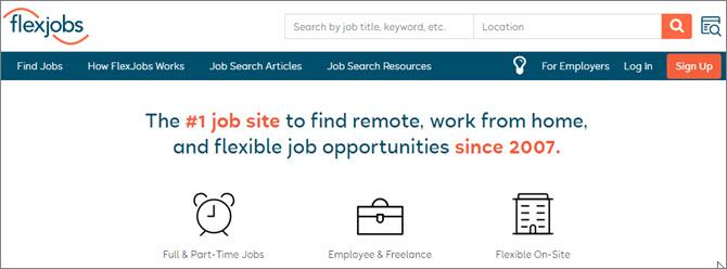 Flexjobs.com - американский сайт для поиска удаленной работы