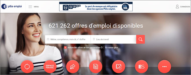 Pole Emploi - французское агенство по трудоустройству