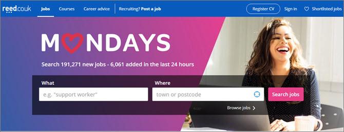 Reed - поиск работы в Великобритании