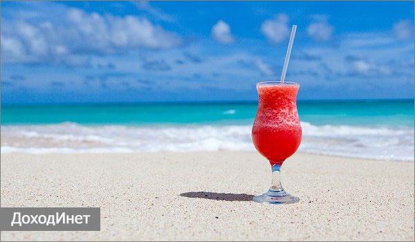 Продажа напитков на пляже
