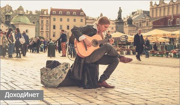 Заработок для музыкантов на улице