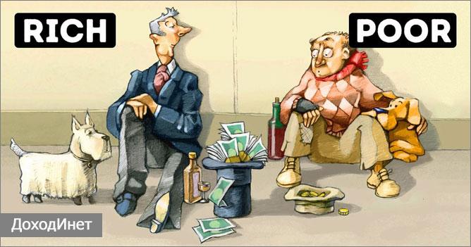 Разница в мышлении бедных и богатых